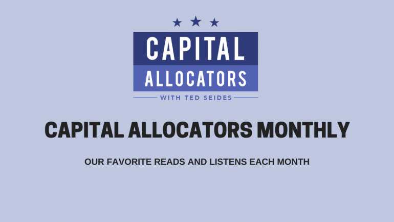 Capital Allocators Monthly – March 2020